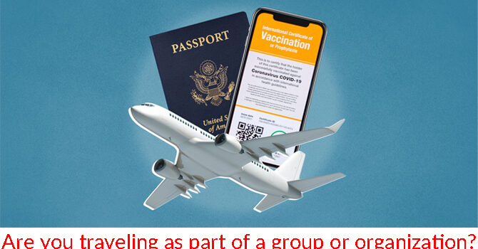 Are you traveling as part of a group or organization