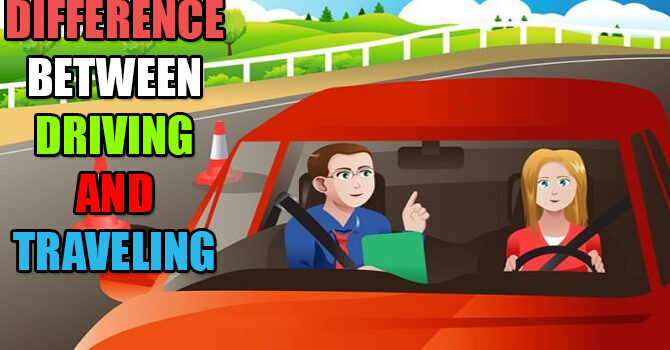 Difference between driving and traveling