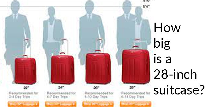 How big is a 28-inch suitcase