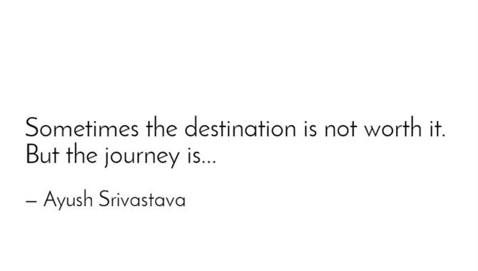 It is Not Worth the Destination