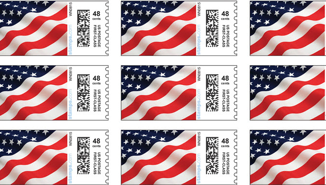 Normal Postage Stamp Size in the US