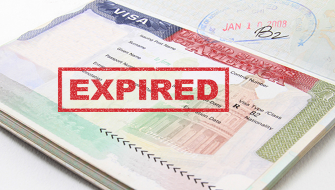 The expiration date of Visa means