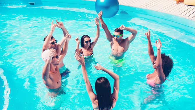 Variation of pools for the party