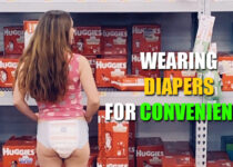 Wearing diapers for convenience