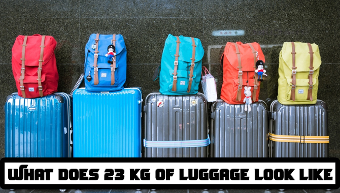 What does 23 kg of luggage look like