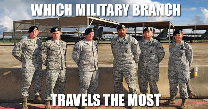 Which military branch travels the most